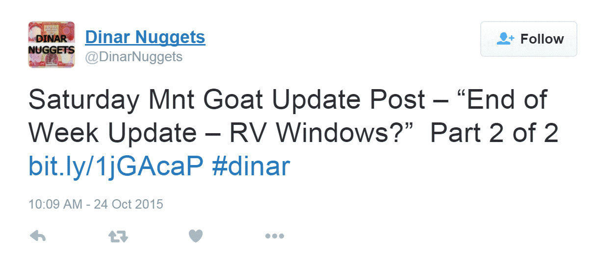 What is the theme of the Dinar Recaps blog?