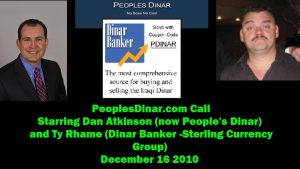 sterling currency group dinar banker tnt dinar dan atkinson